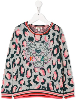Kenzo Kids embroidered Tiger sweater