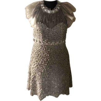 Jenny Packham Beige Dress for Women