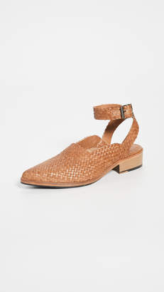 Freda Salvador The Marbella Woven Ankle Strap Sandals