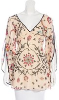 Temperley London Long Sleeve Printed Tunic
