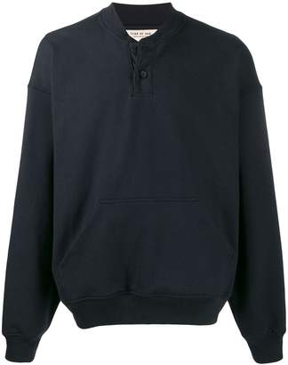 Fear Of God henley placket sweatshirt