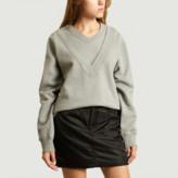 Maison Margiela Grey Double Collar Sweatshirt - s | cotton | grey - Grey/Grey