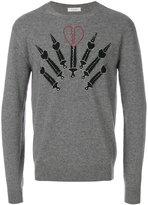 Valentino pierced heart appliqué sweatshirt