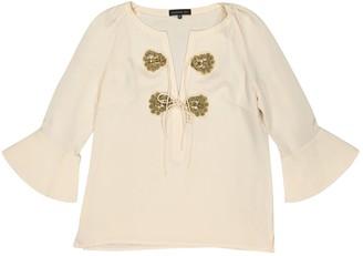 Barbara Bui Ecru Silk Top for Women