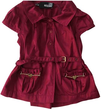 Moschino Love Burgundy Cotton Top for Women