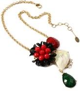 Amrita Singh Rubirosa Resin Stone Necklace.
