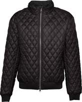Crosshatch Mens Ceelowe Quilted Bomber Jacket Black