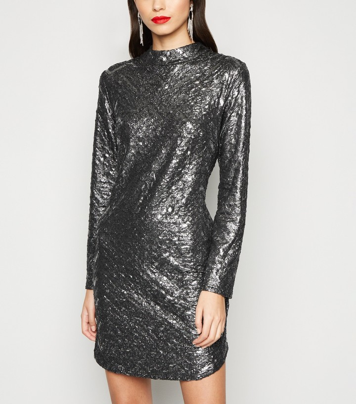 New Look Chevron Bodycon Dress