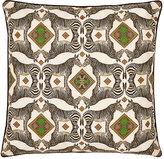 Patch NYC Zebra-Print Linen-Cotton Pillow