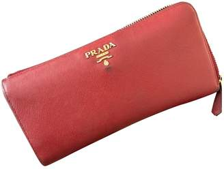 Prada Red Leather Wallets