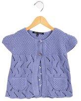 Lili Gaufrette Girls' Open Knit Short Sleeve Cardigan