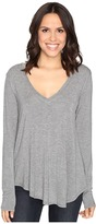 Heather Long Sleeve V-Neck Tee