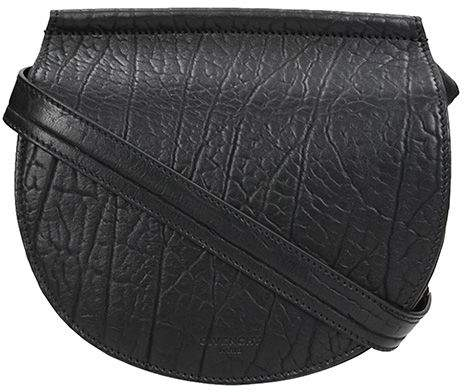 Givenchy Mini Infinity Shoulder Bag In Black Grained Leather