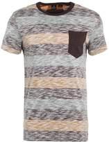 Gstar Felor Blk Stripe Pkt R T S/s Print Tshirt Deep Bordeaux/orphus/vulcan