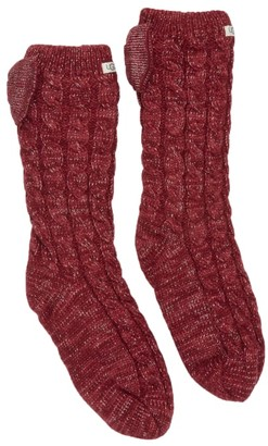 UGG Pom Pom Fleece Lined Crew Socks