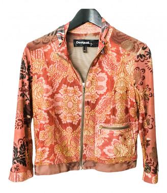 Desigual Orange Polyester Jackets