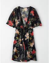 American Eagle AE Lace Trim Kimono Wrap