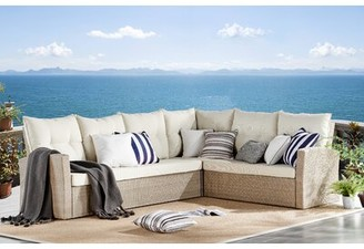 Highland Dunes Pangkal Pinang 4 Piece Sectional Complete Patio Set with Cushions