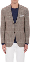Luciano Barbera MEN'S CHECKED HOUNDSTOOTH WOOL-BLEND TWO-BUTTON SPORTCOAT
