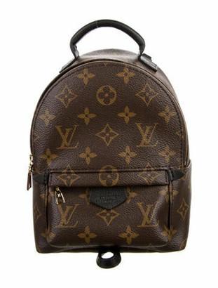 Louis Vuitton 2020 Monogram Mini Palm Springs Backpack Brown