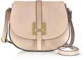 Gisèle 39 Pollia Leather and Suede Shoulder Bag