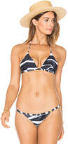 L'Agent by Agent Provocateur Tayler Bikini Top in Black & White. - size XS (also in )