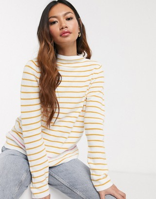 Pieces Nikita long sleeve stripe knit sweater