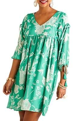 Yumi Floral Print Dress, Green