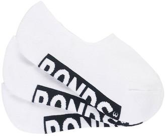 Bonds Womens Logo Sneaker Socks 3 Pack