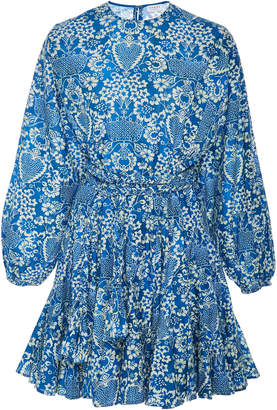 Rhode Resort Ella Floral-Print Cotton-Poplin Mini Dress