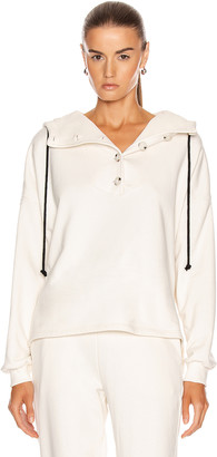 The Range Contral Terry Button Hoodie in Dove | FWRD