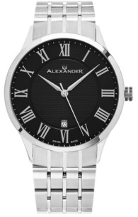 Stuhrling Original Alexander Watch A103B-02, Stainless Steel Case on Stainless Steel Bracelet