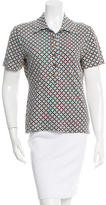 Tory Burch Printed Polo Top