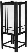 "Oriental Furniture Double Cross Shoji Lamp - Black (18"")"