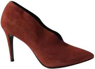AEYDĒ Red Suede Heels