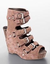 Sam Edelman Kinley Buckled Studded Platform Wedge Sandals