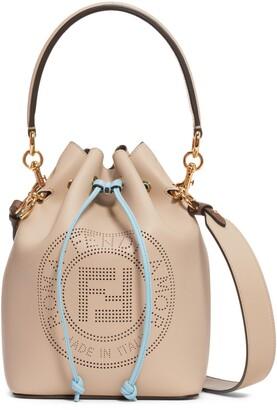 Fendi Mon Tresor Perforated Logo Leather Bucket Bag