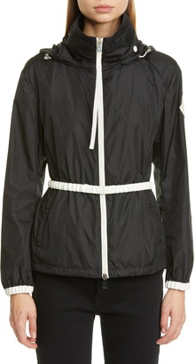 Moncler Belted Hooded Logo Jacket