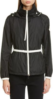 Moncler Hooded Logo Jacket with Belt
