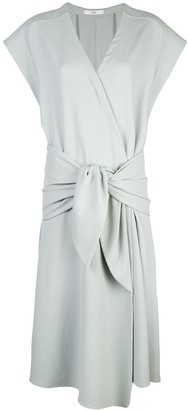Tibi Loose-Fit Wrap Dress