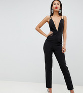 Asos DESIGN Tall jumpsuit with plunge neck and peg leg