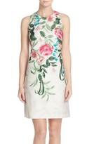Eliza J Women's Placed Floral Print Stretch A-Line Dress