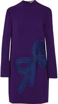Stella McCartney Cayla embroidered tulle-paneled crepe mini dress