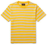 Beams Striped Cotton-jersey T-shirt - Saffron