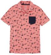 Arizona Short Sleeve Printed Polo Shirt -Boys 4-20