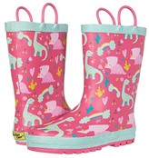 Western Chief Dazzle Dinos Rain Boots (Toddler/Little Kid) (Pink) Girl's Shoes