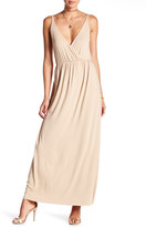 Clayton Andrea Surplice Neck Maxi Dress