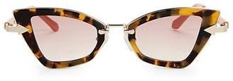 Karen Walker Bad Apple 46MM Angular Cat Eye Sunglasses