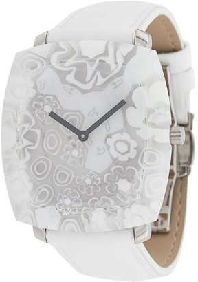 Yunik Flowers Tonneau watch