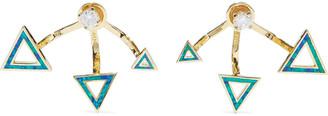 Noir 14-karat Gold-plated, Resin And Crystal Earrings